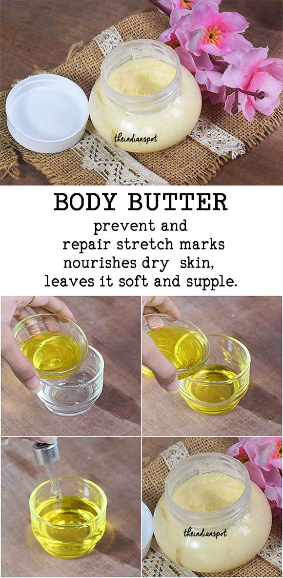 DIY Natural body butter to get rid of Stretch Marks
