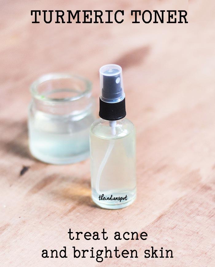 Turmeric Toner to treat acne and brighten skin