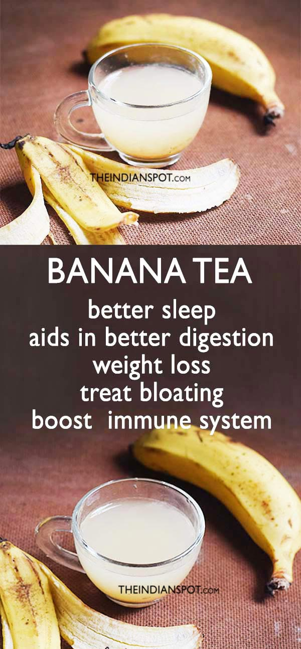 BANANA TEA RECIPE for better sleep and weight loss
