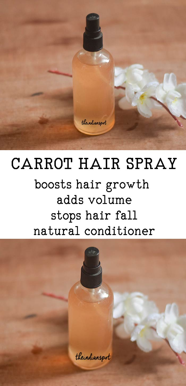 CARROT HAIR SPRAY FOR THICKER HAIR