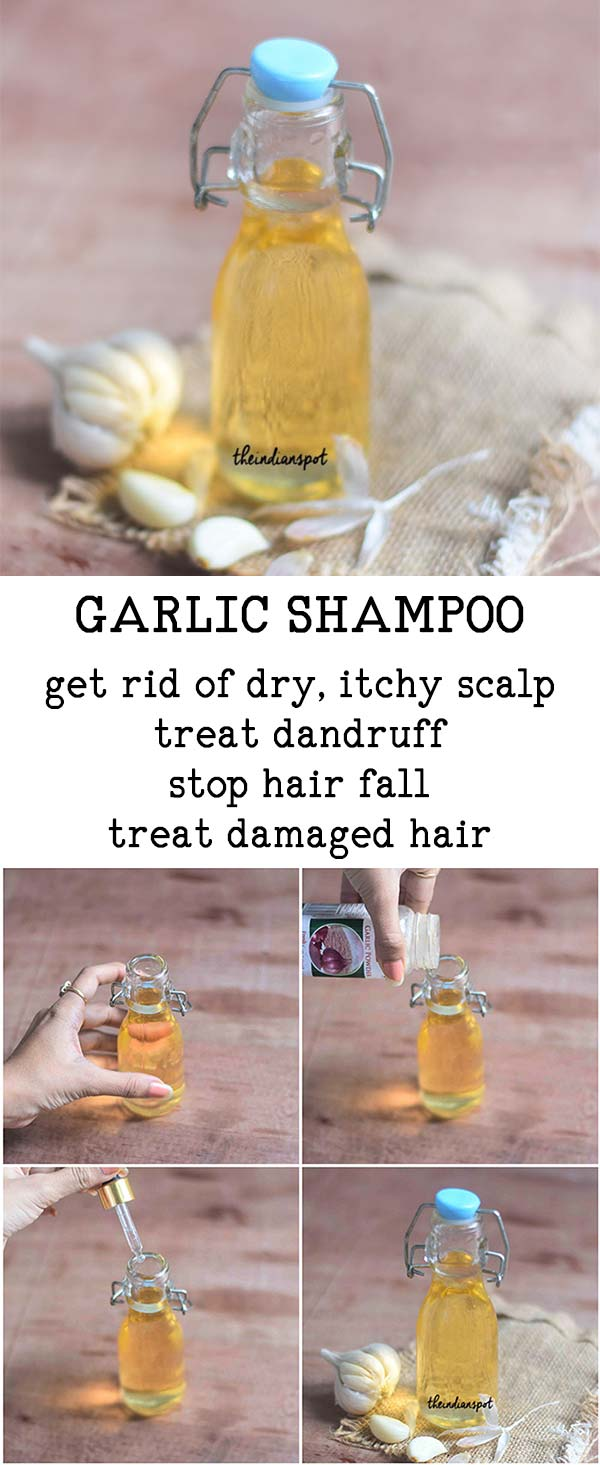 GARLIC SHAMPOO for dandruff and hair fall
