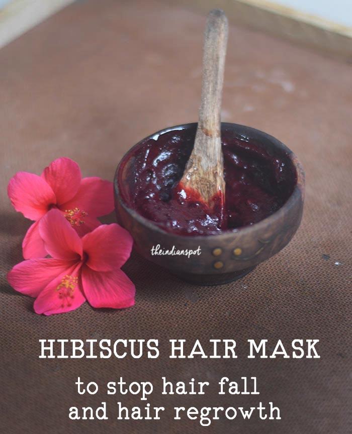 DIY HIBISCUS HAIR MASK -  REDUCE HAIR FALL & GREY HAIR NATURALLY