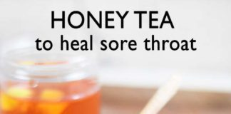HONEY TEA RECIPE TO RELIEVE A SORE THROAT