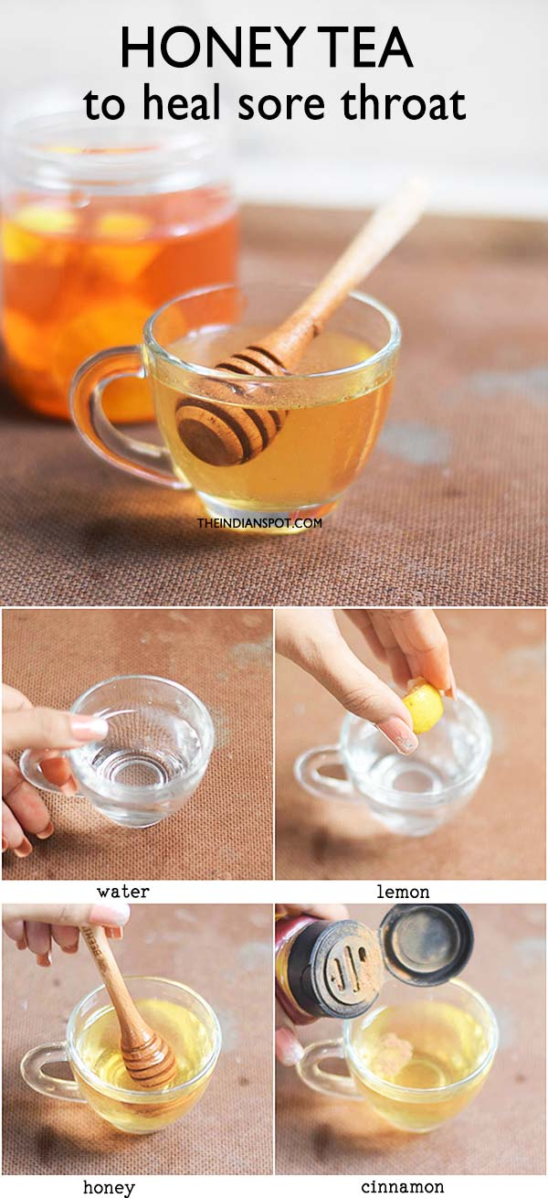HONEY TEA RECIPE TO RELIEVE A SORE THROAT