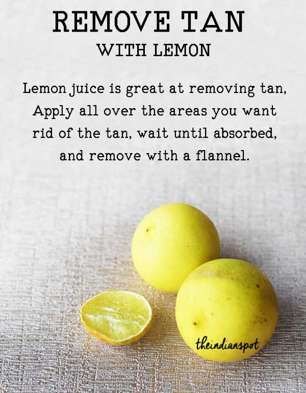 REMOVE TAN WITH LEMON
