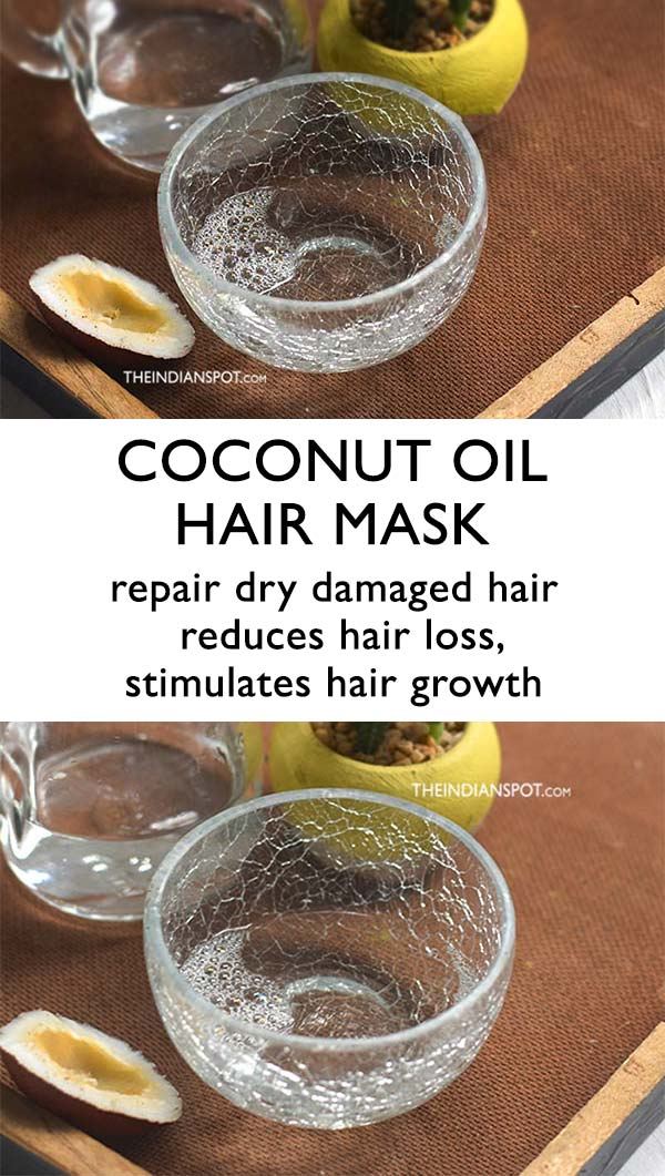 COCONUT OIL HAIR MASK TO REPAIR DRY DAMAGED HAIR