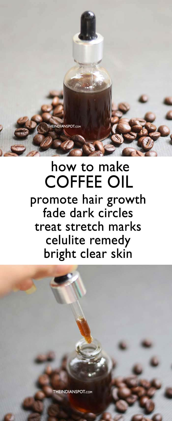 HOMEMADE COFFEE OIL RECIPE AND BENEFITS