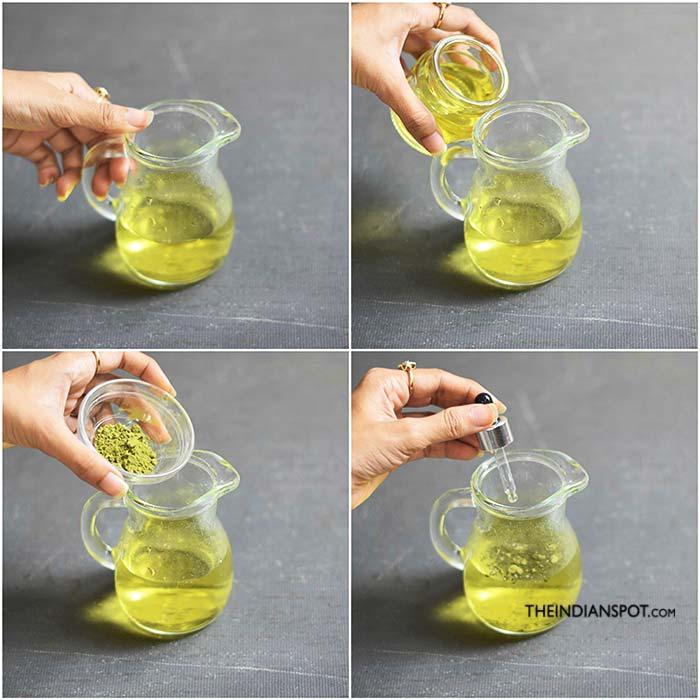 DIY Green Tea Shampoo for hair growth