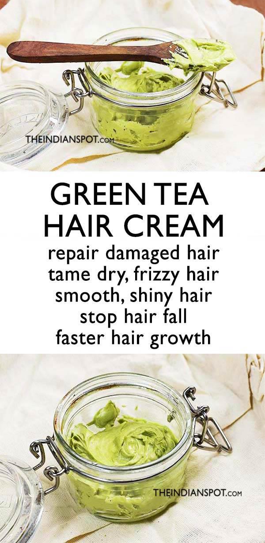 GREEN TEA HAIR CREAM FOR LONGER STRONGER HAIR