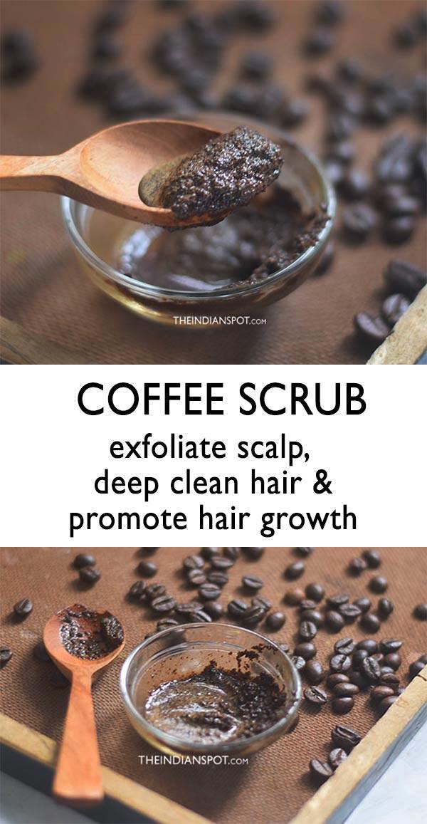Homemade Coffee Scrub to deep clean hair