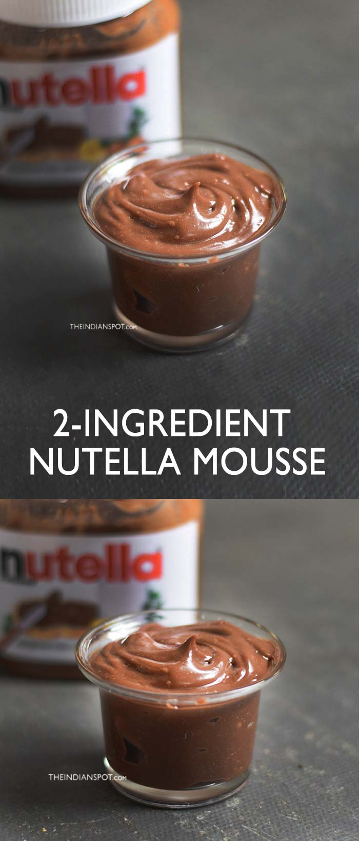 2-INGREDIENT NUTELLA MOUSSE