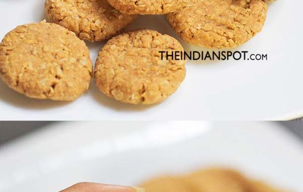 2-INGREDIENT NO-BAKE PEANUT BUTTER OATMEAL COOKIES