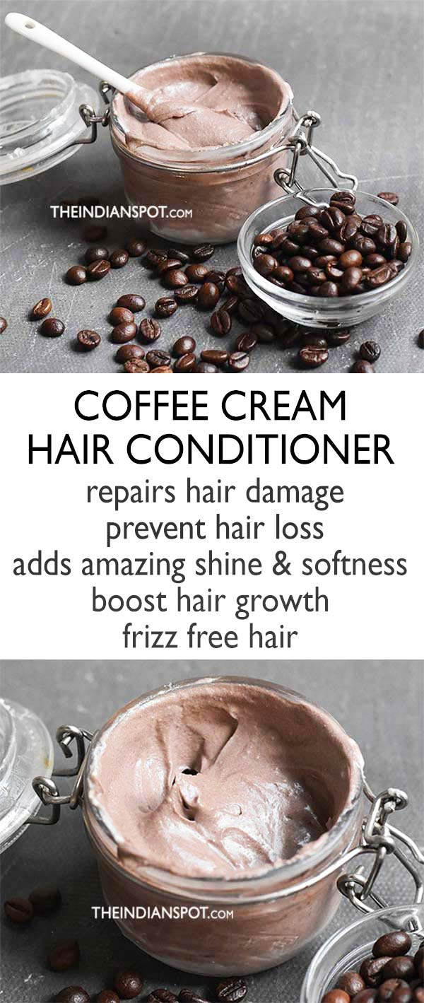DIY Coffee Cream Hair Conditioner
