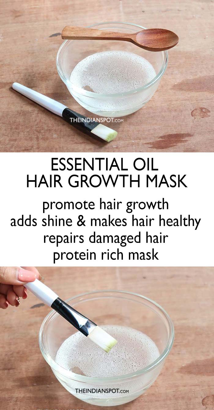 Essential Oil Hair Growth Mask for Longer, Thicker Hair