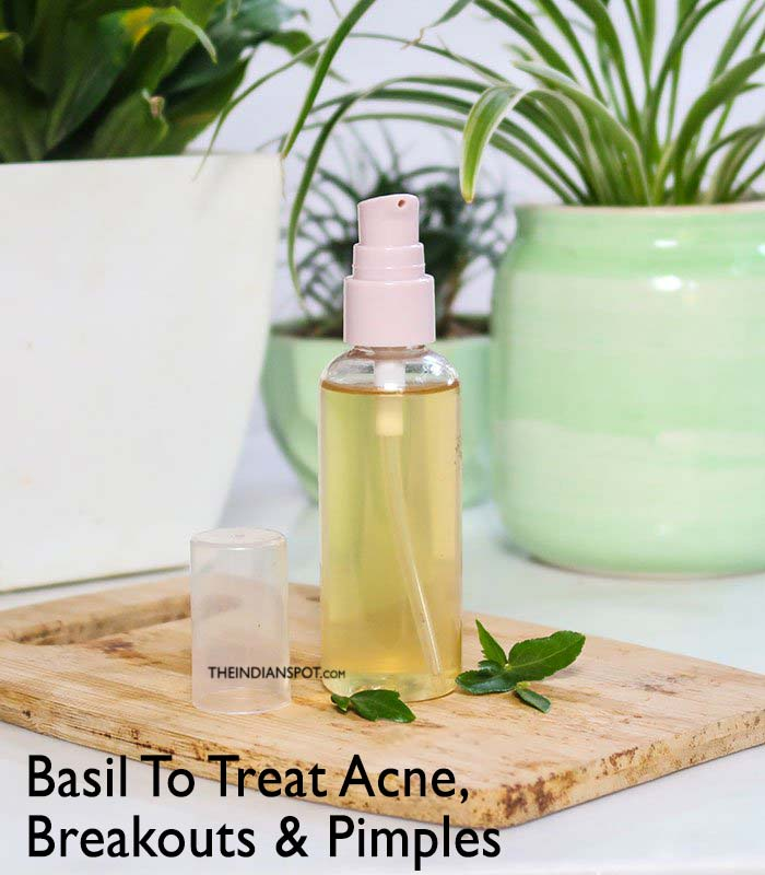 TREAT PIMPLES, ACNE AND BREAKOUTS WITH BASIL