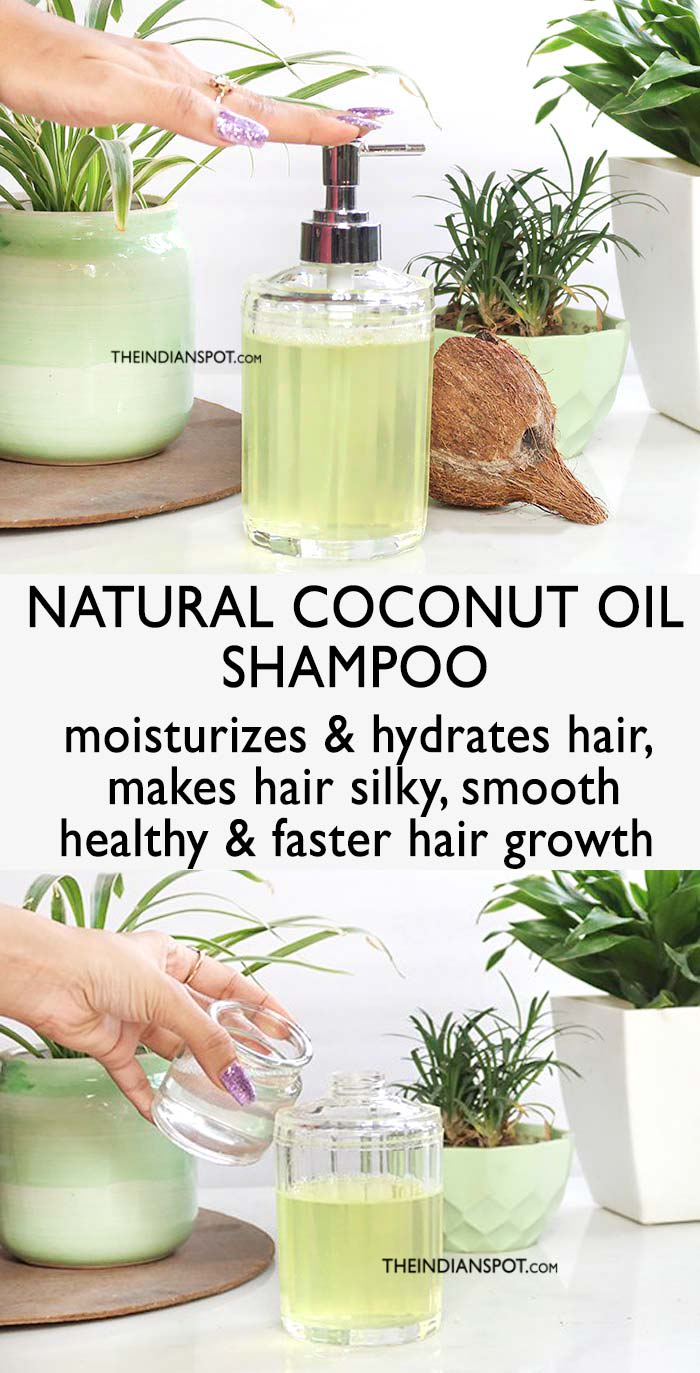 Homemade Natural Coconut Oil Shampoo Recipe for Healthy Hair
