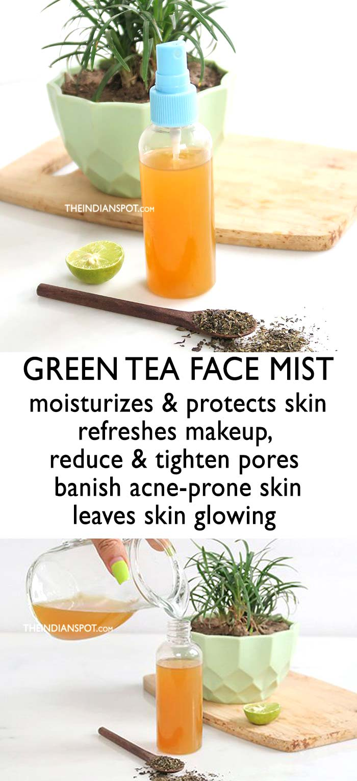 GREEN TEA FACE MIST TO REDUCE AND TIGHTEN PORES