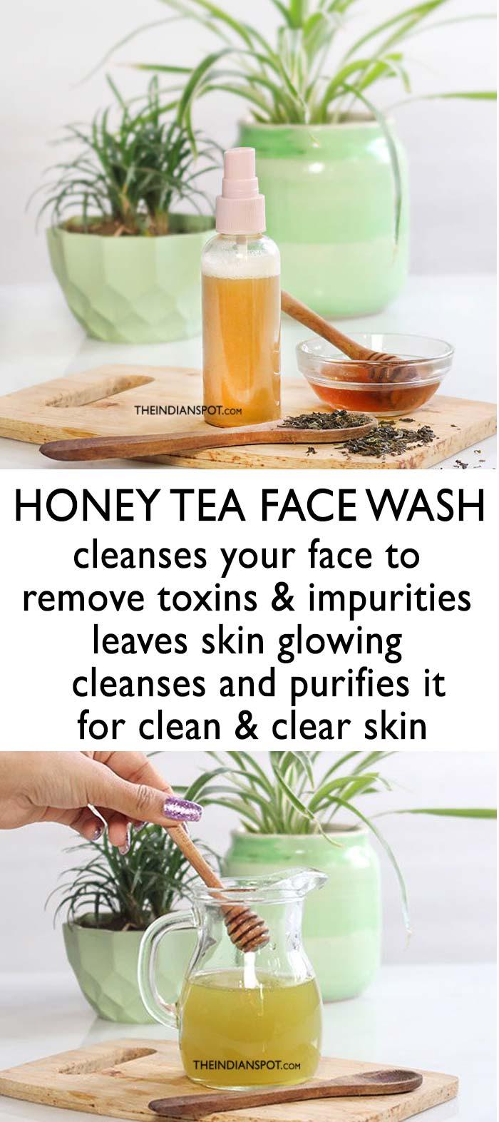 NOURISHING HONEY TEA FACE WASH